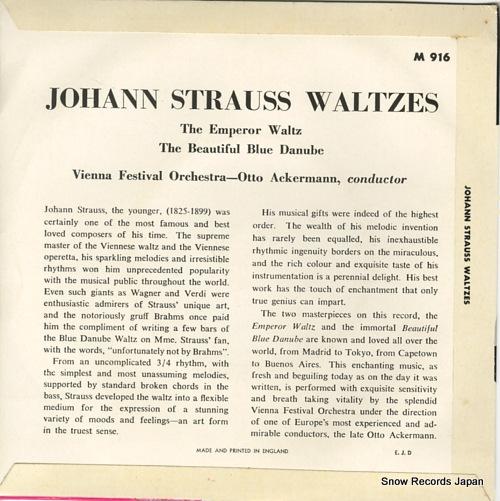 オットー・アッカーマン johann strauss waltzes M916