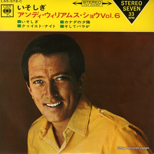 WILLIAMS, ANDY the andy williams show 6 LSS-572-C - front cover