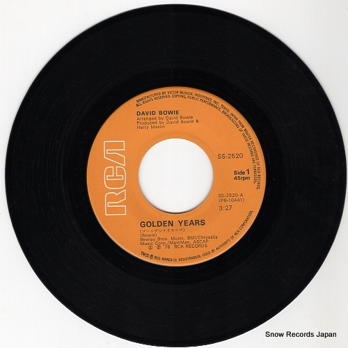 BOWIE, DAVID golden years SS-2520 - disc