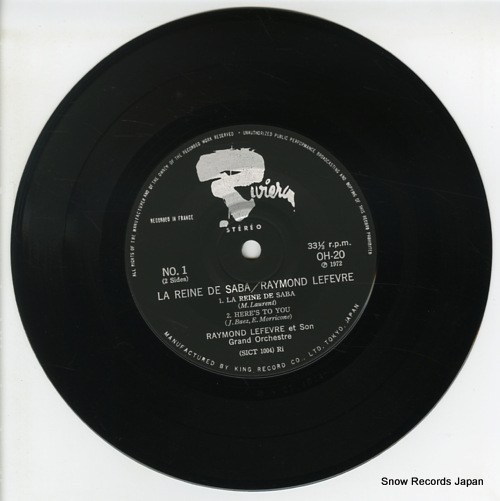 LEFEVRE, RAYMOND la reine de saba OH-20 - disc