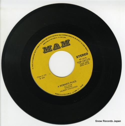 O'SULLIVAN, GILBERT a woman's place TOP-1911 - disc