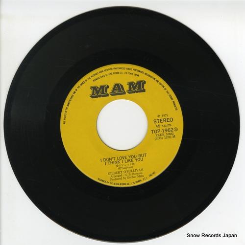 O'SULLIVAN, GILBERT i don't love you but i think i like you TOP-1962 - disc