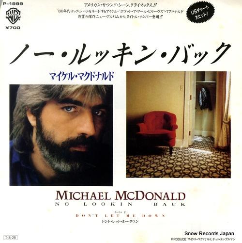 MCDONALD, MICHAEL no looking' back P-1999 - front cover