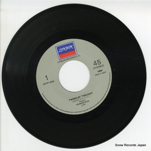 GOYA, FRANCIS twinklin' twilight S07P-1002 - disc
