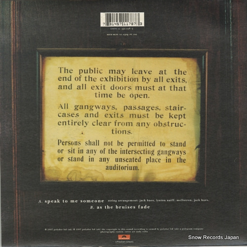 GENE speak to me someone COSTS12/571178-7 - back cover