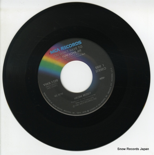 REDDY, HELEN you don't have to say you love me VIMX-1529 - disc