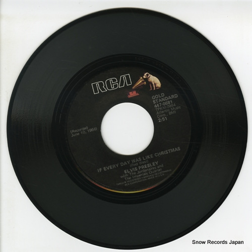 PRESLEY, ELVIS if every day was like christmas 447-0681 - disc