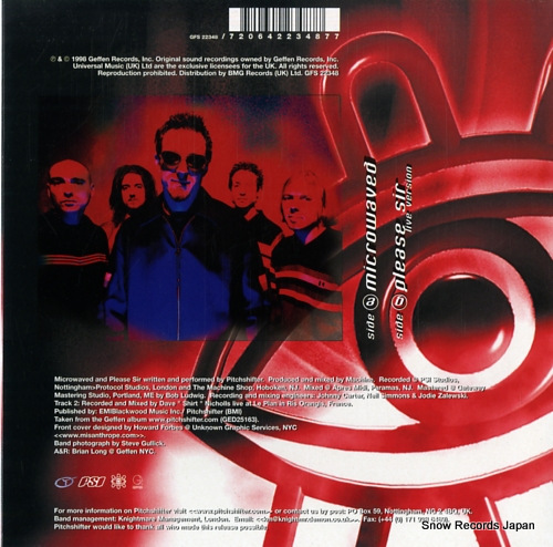 PITCHSHIFTER microwaved GFS22346 - back cover
