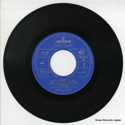 GAP BAND, THE burn rubber on me(why you wanna hurt me) 7PP-30 - disc