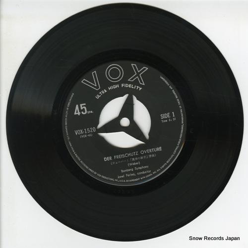 PERLEA, JONEL weber; der freischutz overture VOX-1520 - disc