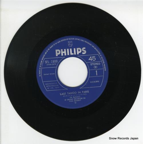 MAURIAT, PAUL last tango in paris SFL-1800 - disc