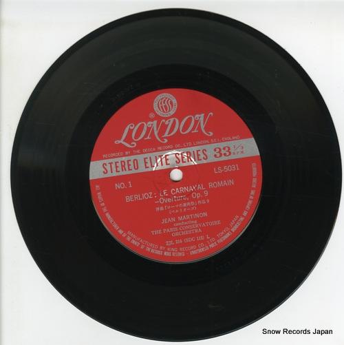 MARTINON, JEAN berlioz; le carnaval romain LS5031 - disc