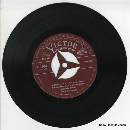 FIEDLER, ARTHUR brahms; hungarian dance EP-3041 - disc
