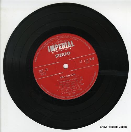 NELSON, RICKY 5 big hits / ricky nelson SJET-38 - disc