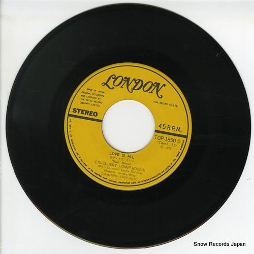 HUMPERDINCK, ENGELBERT love is all TOP-1850 - disc