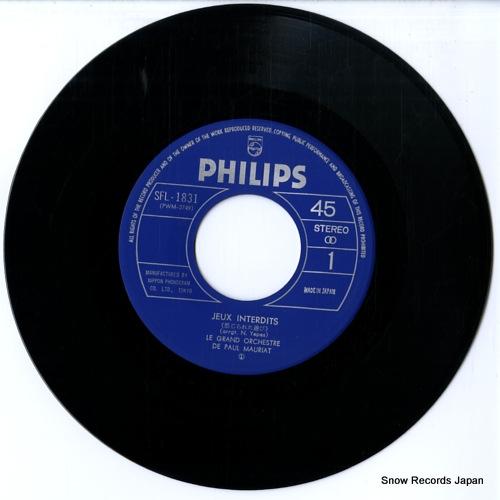 MAURIAT, PAUL jeux interdits SFL-1831 - disc