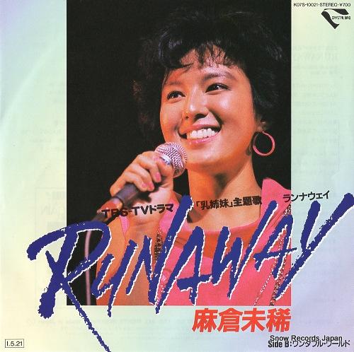 ASAKURA, MIKI runaway K07S-10021 - front cover