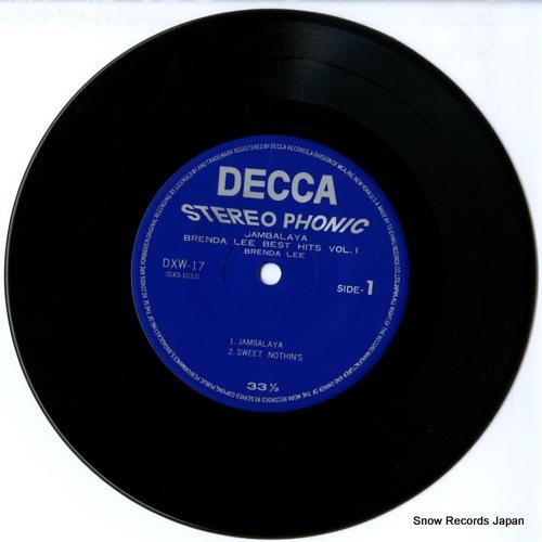 LEE, BRENDA brenda lee best hits vol.1 DXW-17 - disc