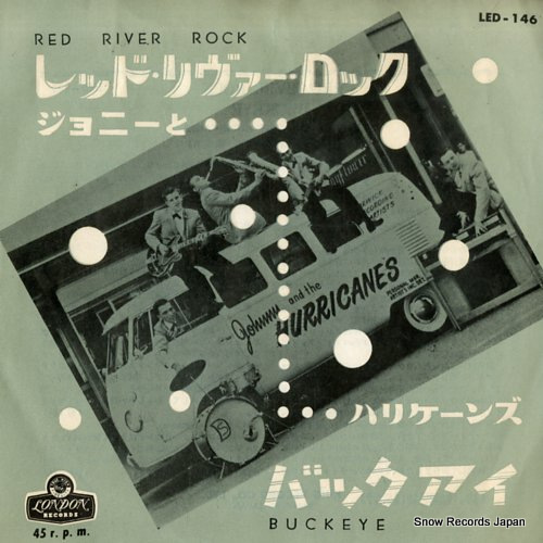 JOHNNY AND THE HURRICANES red river rock LED-146 - front cover
