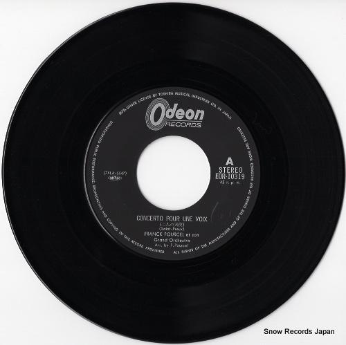 POURCEL, FRANK concerto pour une voix EOR-10319 - disc
