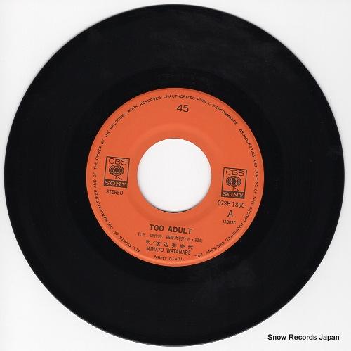 WATANABE, MINAYO too adult 07SH1866 - disc
