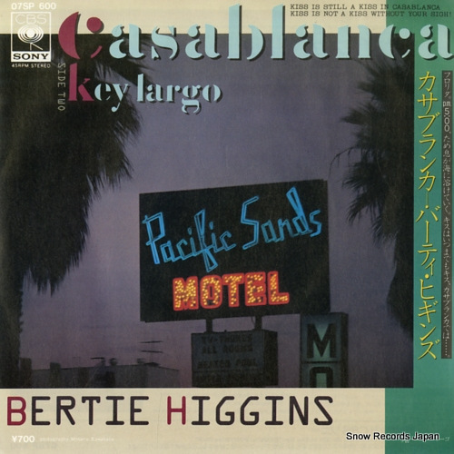 HIGGINS, BERTIE casablanca 07SP600 - front cover