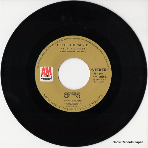 CARPENTERS top of the world AM-199 - disc