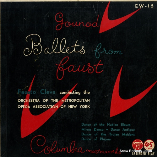 CLEVA, FAUSTO gounod faust -ballet music EW-15 - front cover