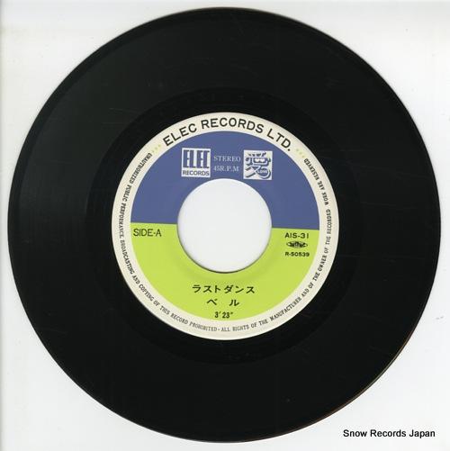 BELLE last dance AIS-31 - disc