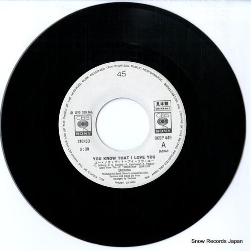 SANTANA you know that i love you 06SP449 - disc