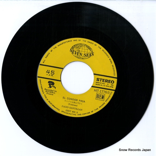 FACIO SANTILLAN el condor pasa HIT-1776 - disc