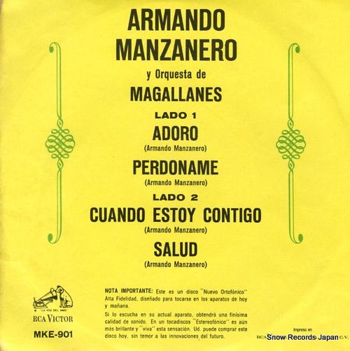 MANZANERO, ARMANDO adoro MKE-901 - back cover