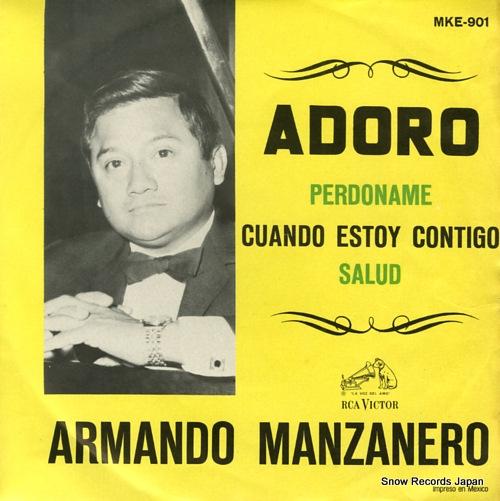 MANZANERO, ARMANDO adoro MKE-901 - front cover