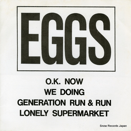 EGGS o.k. now SR-001 - front cover