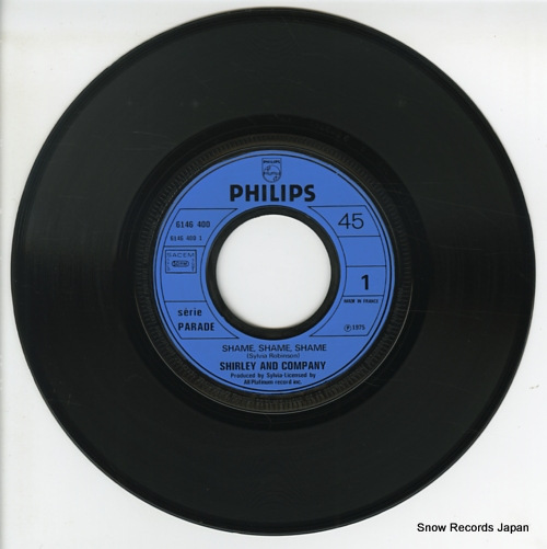 SHIRLEY AND COMPANY shame, shame, shame 6146400 - disc
