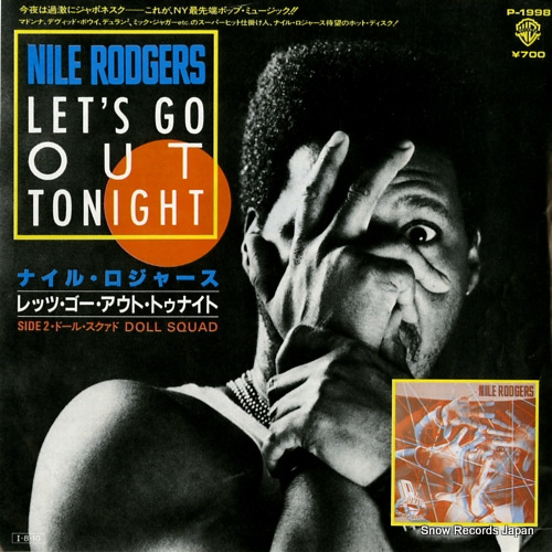 RODGERS, NILE let's go out tonight P-1998 - front cover