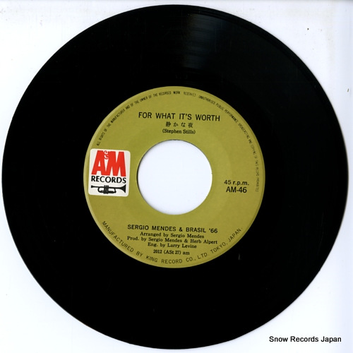 MENDES, SERGIO, AND BRASIL'66 for what it's worth AM-46 - disc
