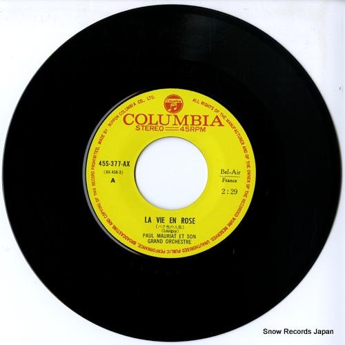 MAURIAT, PAUL la vie en rose 45S-377-AX - disc