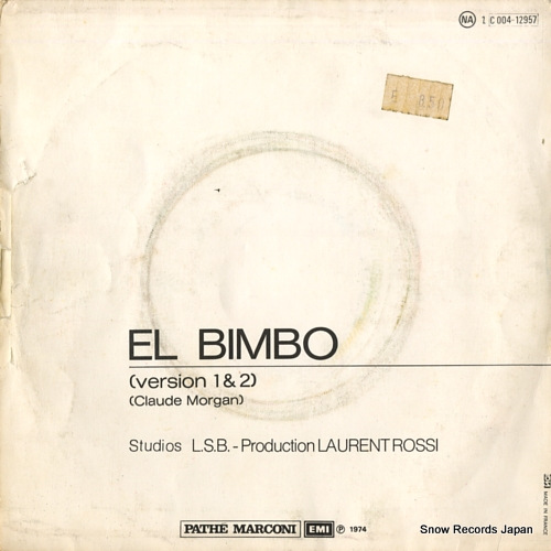 BIMBO JET el bimbo C004-12957 - back cover