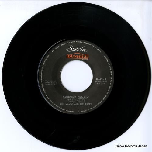 MAMAS AND THE PAPAS, THE california dreamin' HR-2179 - disc