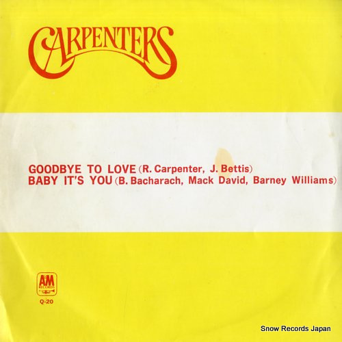 CARPENTERS, THE goodbye to love Q-20 - front cover