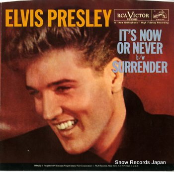 PRESLEY, ELVIS it's now or never