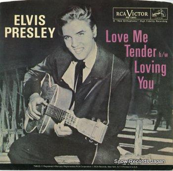 PRESLEY, ELVIS love me tender
