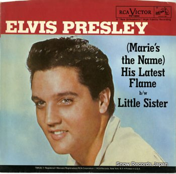 PRESLEY, ELVIS (marie's the name) his latest flame