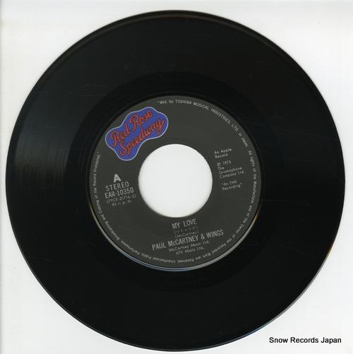 MCCARTNEY, PAUL, AND WINGS my love EAR-10350 - disc