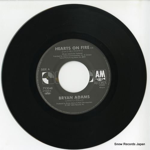 ADAMS, BRYAN hearts on fire 7Y3048 - disc