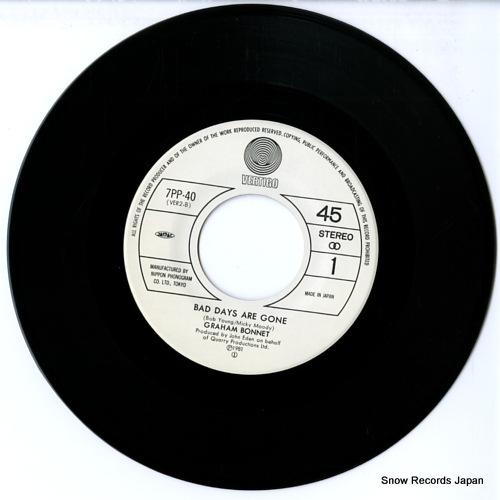 BONNET, GRAHAM bad days are gone 7PP-40 - disc