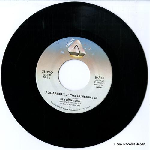 5TH DIMENSION aquarius/let the sunshine in 6RS-47 - disc