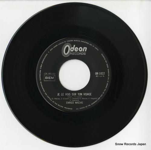 MACIAS, ENRICO je le vois sur ton visage(japanese version)) OR-1822 - disc