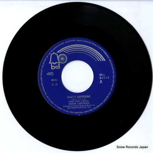 EDISON LIGHTHOUSE what's happening BELL-88058 - disc